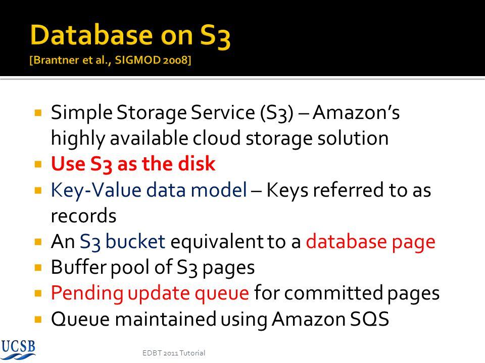 Database on S3 [Brantner et al., SIGMOD 2008]